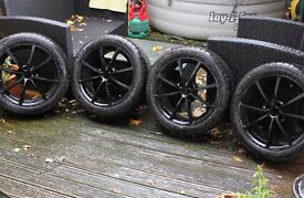 17 inch black alloy wheels with brand new tyres
