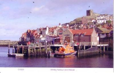 Whitby harbour and lifeboat