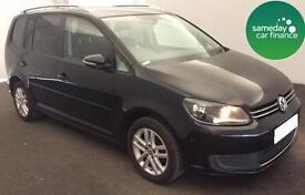 £170 PER MONTH BLACK 2011 VW TOURAN 1.6 TDI SE DIESEL MANUAL 7 SEATS