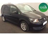 £184.87 PER MONTH BLACK 2011 VW TOURAN 1.6 TDI SE DIESEL MANUAL 7 SEATS