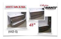 """(442-5)  VANITÉ 48""""/ Salle de bain/Collection  """"AVANTI"""" 390.00$"""