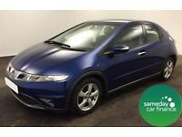 £138.18 PER MONTH BLUE 2009 HONDA CIVIC 1.8 I-VTEC SE PETROL MANUAL