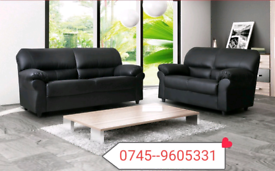 _Black 3+2 Candy Leather Sofa Sale