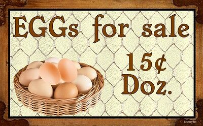 (Eggs For Sale)  WALL DECOR, RUSTIC, COUNTRY, PRIMITIVE, HARD WOOD, SIGN, PLAQUE