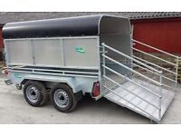 3 in 1 GALVANISED LIVESTOCK TRAILER HAS REMOVABLE MESHSIDES RAMP & CANOPY