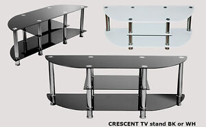 Beautiful tempered glass TV stand on slae, only $129