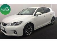 £240.21 PER MONTH WHITE 2013 LEXUS CT 200h 1.8 CVT ADVANCE 5 DOOR AUTOMATIC