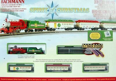 BACHMANN 24017 N Spirit Of Christmas STEAM Train Set READY TO RUN **