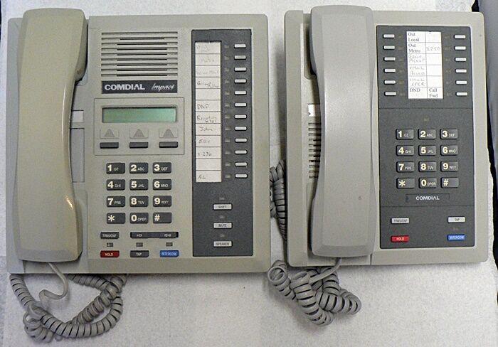 LOT OF SIX COMDIAL IMPACT INTERCOM TELEPHONES