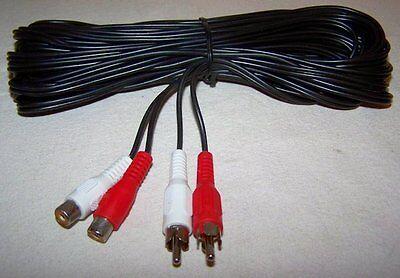 Posten 50 x Cinch Kabelverlängerung 2x Stecker auf 2x Buchse - 5 m Verlängerung