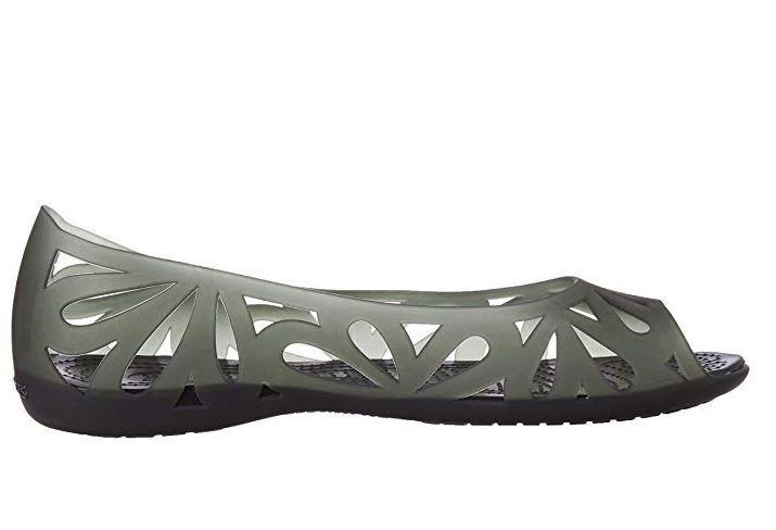NEW Women's Crocs Adrina III Peep-Toe Ballet Flat Open Toe Jelly Shoes Sz 8 W US