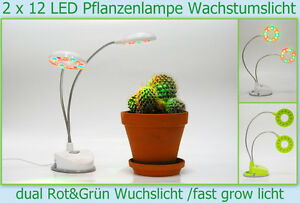 usb pflanzen lampe 2 x 12 led fast grow wuchs wachstums tages licht leuchte ovp ebay. Black Bedroom Furniture Sets. Home Design Ideas