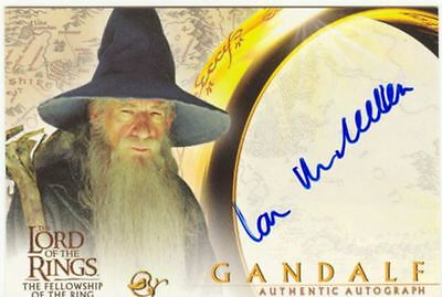 Lord Of The Rings FotR Autograph Card Sir Ian McKellen As Gandalf
