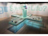 Exhibition showcase TRESTLES / LEGS - FREE TO COLLECT