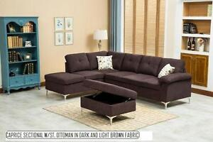 3PCS SECTIONAL WITH FREE STORAGE OTTOMAN $799