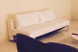 Beautiful Contemperary style white Leatherette sofa