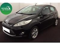 £154.06 PER MONTH BLACK 2012 FORD FIESTA 1.4 TDCi ZETEC 5 DOOR DIESEL MANUAL