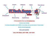 IT.Tech.Support Computer/Laptop Repairs and Queries