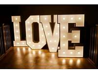 Giant 4ft LOVE carnival light letters
