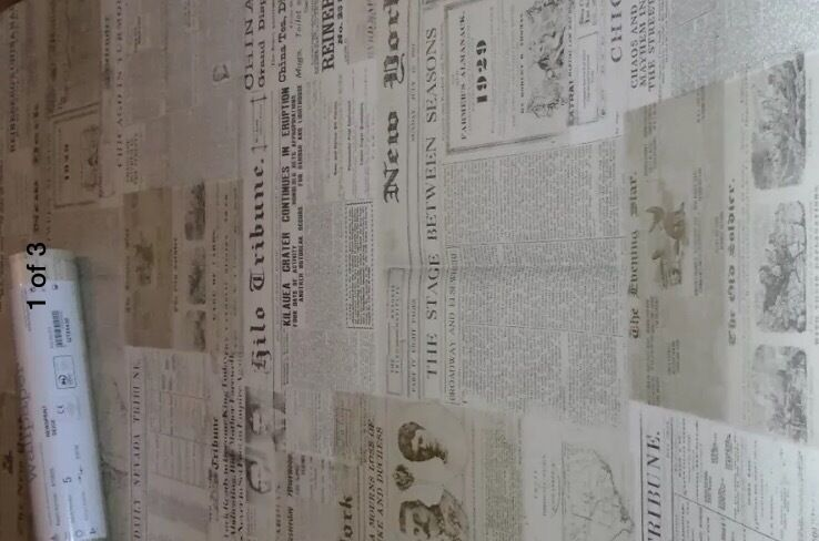 Next Newsprint Wallpaper X3 Rolls