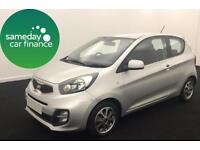 ONLY £122.25 PER MONTH SILVER 2013 KIA PICANTO 1.0 CITY 3 DOOR MANUAL PETROL