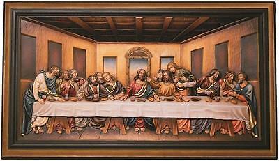 Letzte Abendmahl Holzgeschnitzt, Last supper woodcarving, Jesus Christus