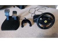 Logitech Thrustmaster Ferrari GT Steering Wheel for PC and PlayStation
