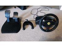 Logitech Thrustmaster Ferrari GT Steering Wheel for PC and PlayStation