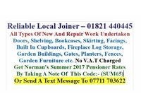 Reliable Joiner Available Now - All Types Of Joinery Work Welcome