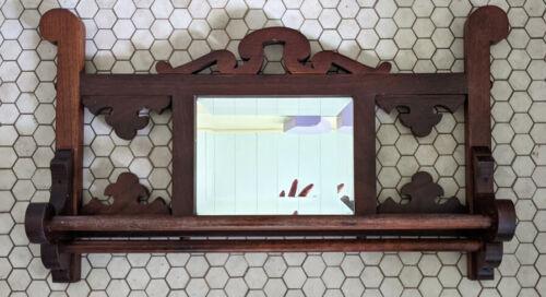 Antique Mirrored Wooden Towel Rack
