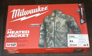 Brand New Milwaukee Realtree Heated Jacket Kit L and XL