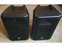 Yamaha DBR10 Active Powered Speakers & Qsc k10 tote cases