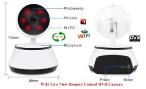 Security Wireless WiFi Live Monitoring IR Pan/Tilt DVR Camera