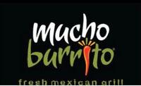 Mucho Burrito Hiring