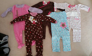 5 Brand New 24 Months Sleepers for Baby Girls Toddler