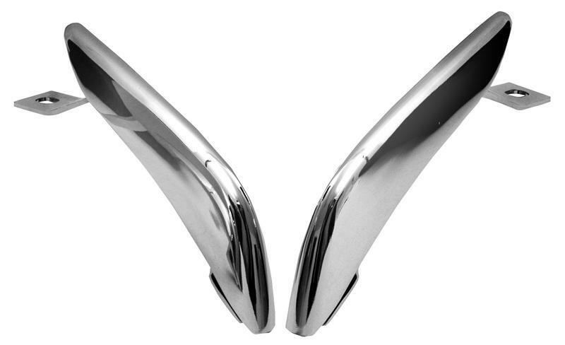 1965-66 Ford Mustang Rear Bumper Guards - Chrome New Dii