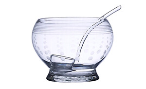 Mikasa Glass Punch Bowl w/ Laddle -New!