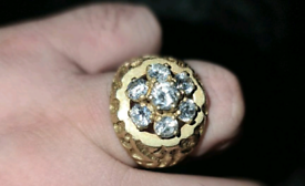 1970s 14k gold diamond ring 1 of a kind 23.8g