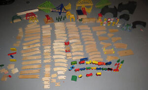 HUGE LOT OF BRIO WOODEN TRAIN TRACKS, TRAINS AND MORE! Peterborough Peterborough Area image 1
