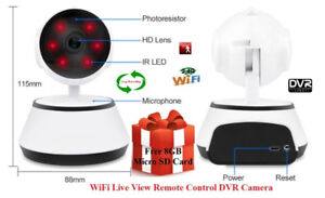 Security WiFi IP HD Live Watch Night Vision Pan/Tilt DVR Camera