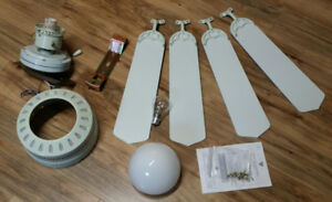"""42"""" Ceiling fan with four blades and light"""