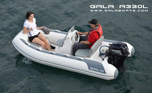 NEW GALA Wide Body Inflatable RIB A300L with 9.8HP