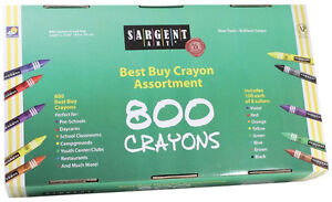 Sargent Art 800 Count Crayon Assorted-Garderie - Negotiable
