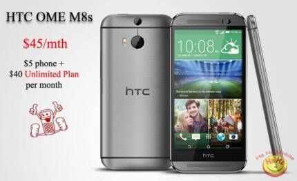Brand New HTC One M8s Grey Ha Ha Mobile Auburn Auburn Area Preview
