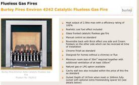 Flue less gas fire