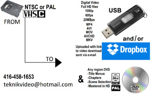 WE Convert VHS-C (Compact VHS) camcorder tapes to DVD and USB