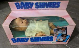 Vintage 1989 Baby Shivers Tyco Irwin life like newborn doll