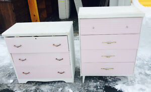 2 dressers - all solid wood - Antique -$ 100  delivery avail