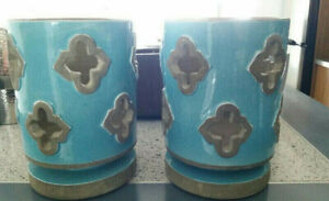 2 x Moroccan-style candle holders