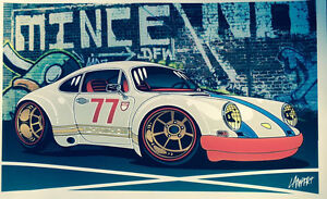 Mototooner car art prints for sale